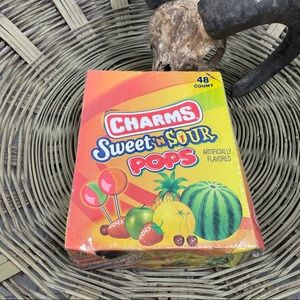 Boxed Lot of Sweet N Sour Pop SNWOT 48 Count